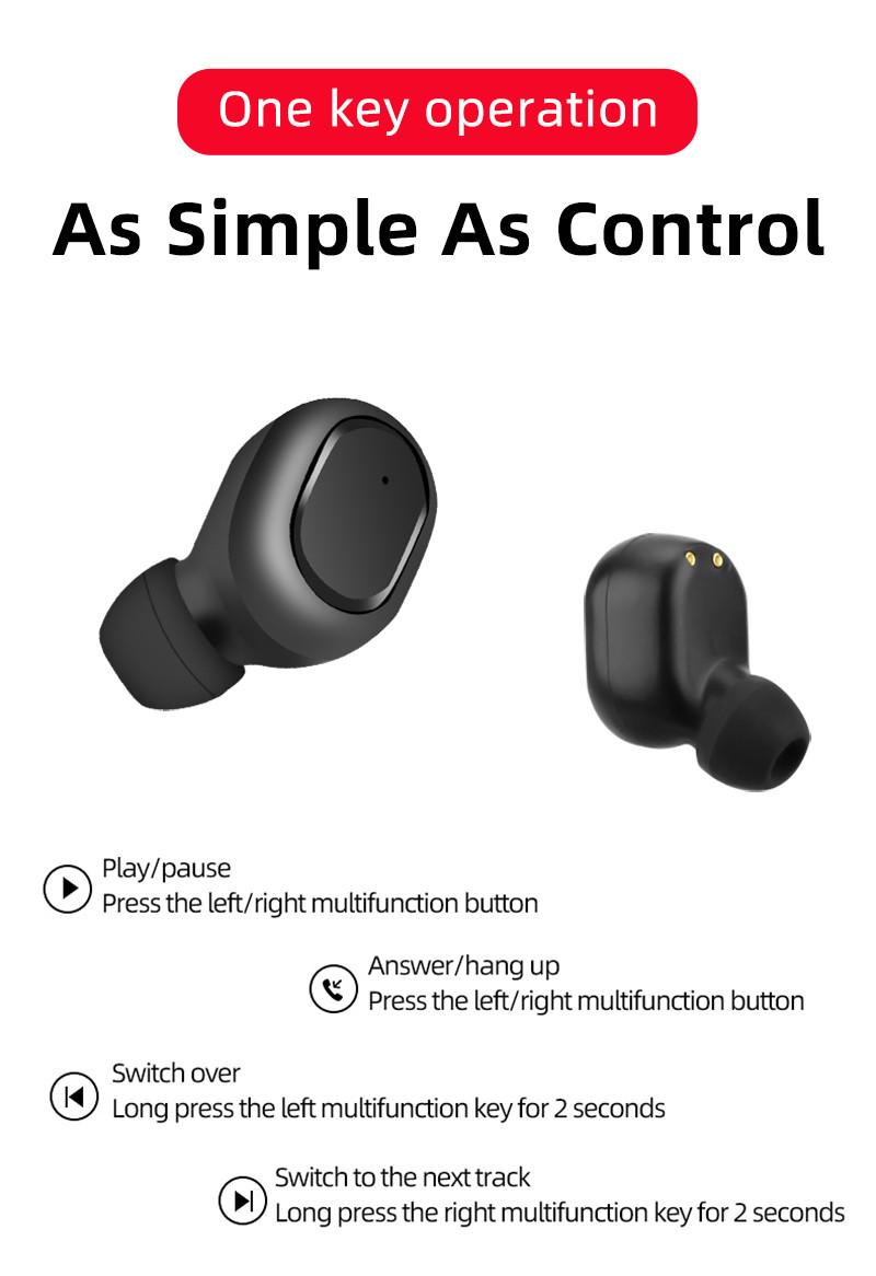 Tai nghe Bluetooth 5.0&EDR M1TWS Fullbox, tiết kiệm pin - Hàng nhập khẩu