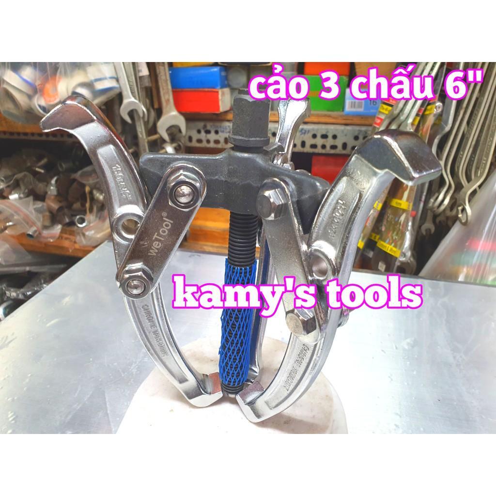 Cảo 3 chấu 6 inch 150mm 5 inch 125mm Chrome Vanadium Cao Cấp, vam 3 chấu