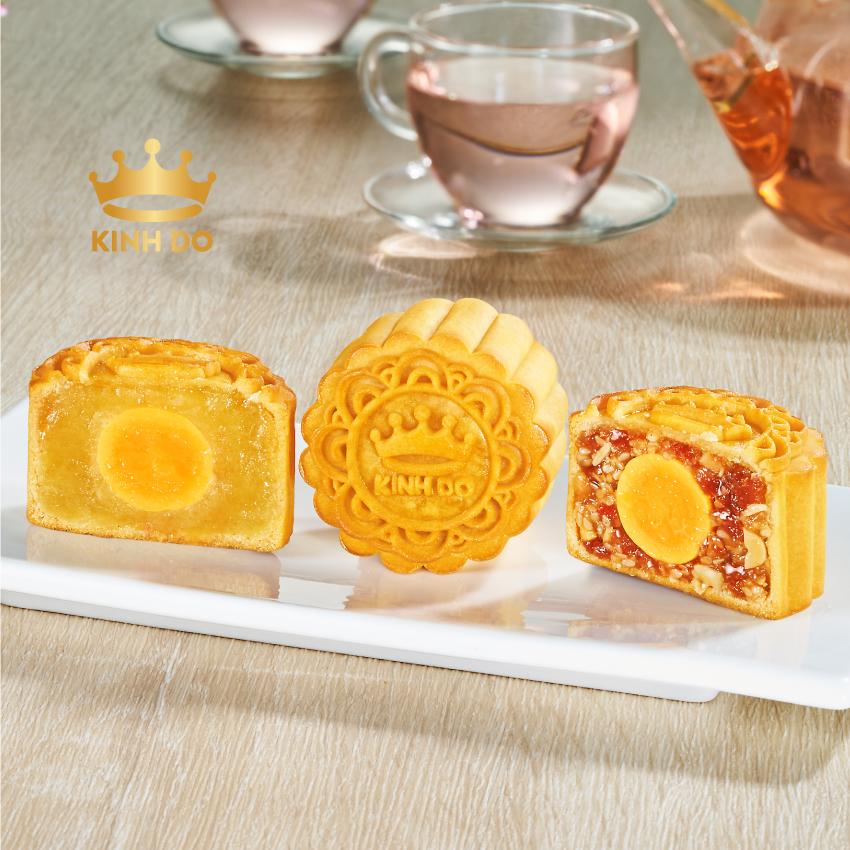 Bánh Trung Thu Kinh Đô - Bánh Trung Thu Mini 3 Bánh Xanh