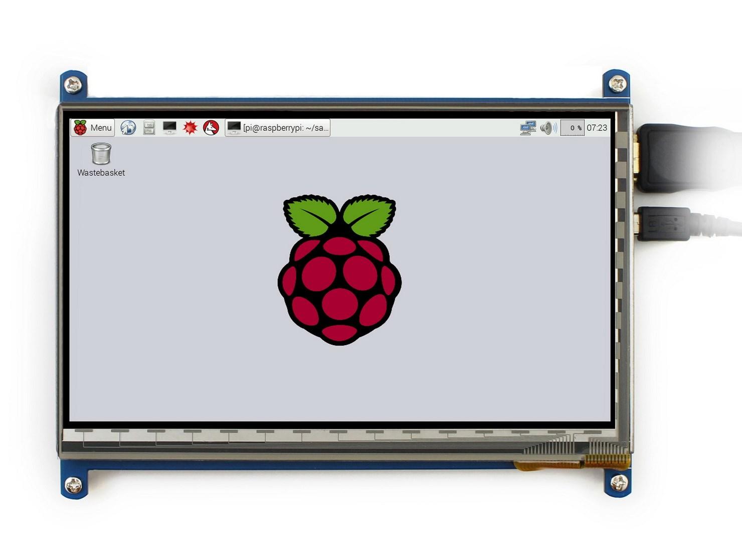 Màn Hình 7Inch HD 800x480 Cảm Ứng Dùng Cho Máy Tính Raspberry Và Các Thiết Bị Khác(Kèm Phụ Kiện)