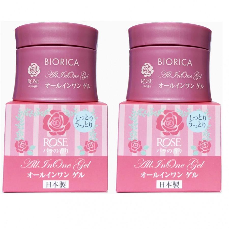 Bộ 2 hộp kem trị khô nẻ da BIORICA ROSE Nhật bản (40g) - HÀNG CHÍNH HÃNG