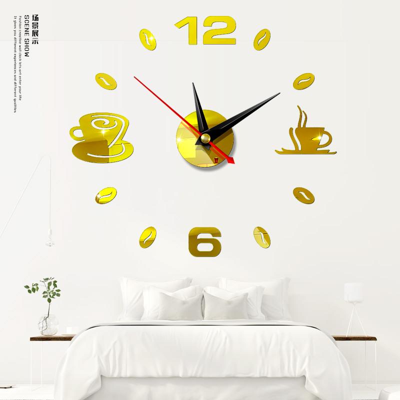 Đồng hồ 3D tự dán tường cao cấp phong cách Châu Âu DH52