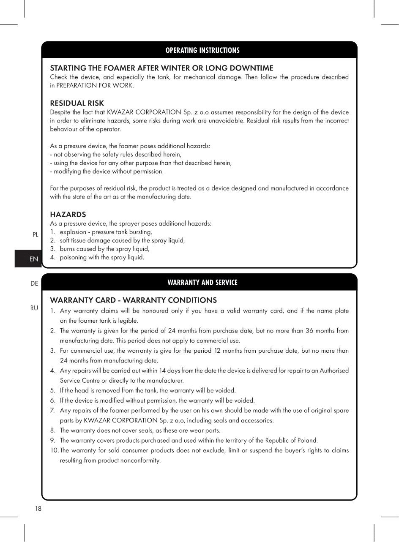 Bình Phun Tạo Bọt Cầm Tay/đeo Vai - 6l Dùng Cho Dung Dịch Tính Kiềm Xuất Xứ Ba Lan - Hàng Chính Hãng