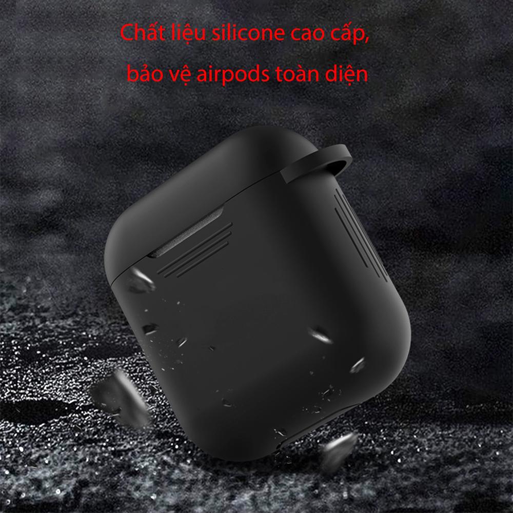 Hộp đựng tai nghe Airpods 1 - Silicone mịn Xanh 01 - Hàng Chính Hãng