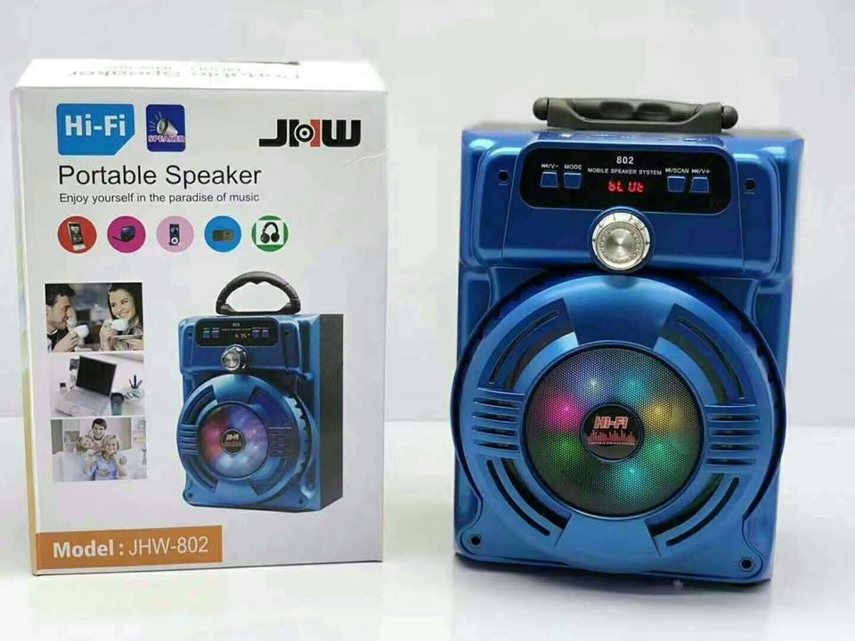 Loa bluetooth Xách tay Tích Hợp Chức Năng Karaoke  JHW-802 (July) âm thanh to,chắc có đèn led đẹp tặng kèm Micro Có dây [ Giao màu ngẫu nhiên]