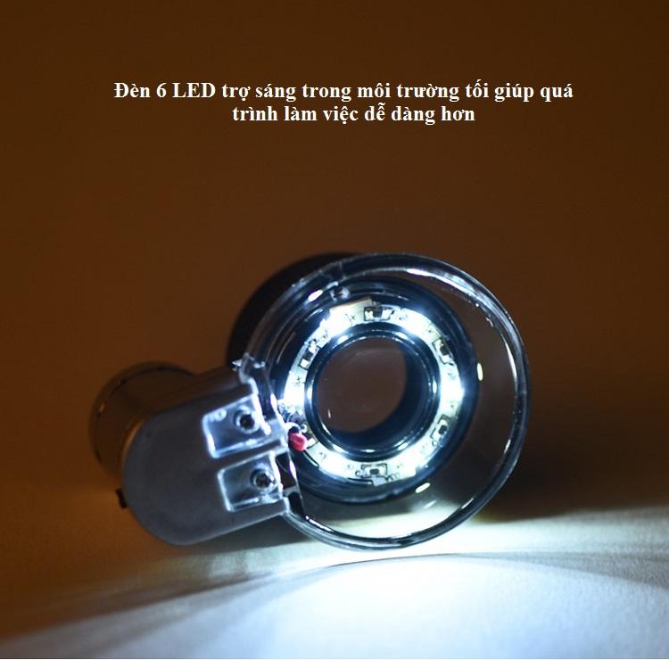 Kính lúp chuyên dụng soi gốm sứ cao cấp phóng đại 20 lần (Tặng móc khóa 3 chức năng  cao cấp)