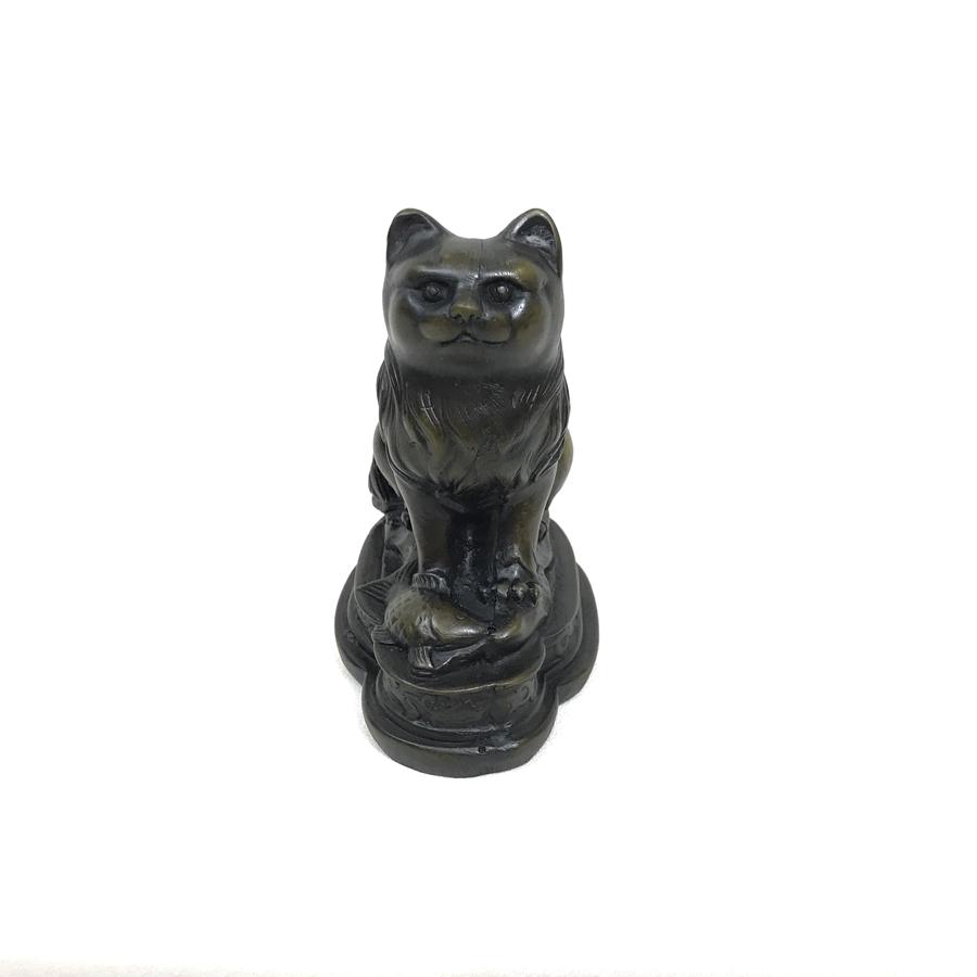 Tượng Đá Trang Trí Mèo Phong Thủy - Đá Màu