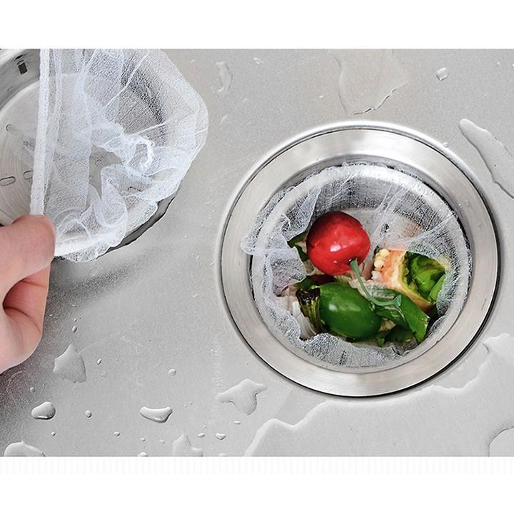 Túi lọc rác bộ 100 túi lọc gom rác bồn rửa chén