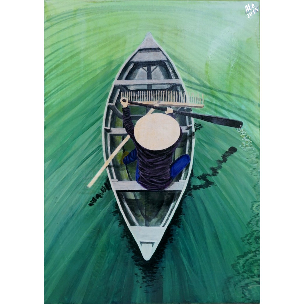 Tranh sơn dầu sáng tác: Trên xanh