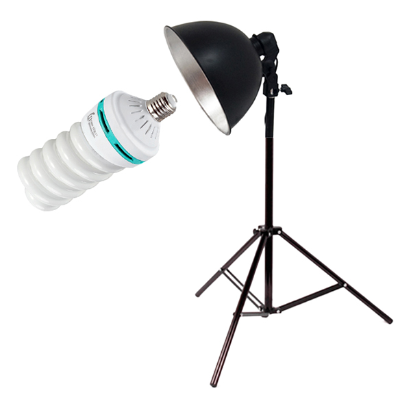 Bộ Đèn Chụp Sản Phẩm Chóa Nhôm (150W) - Hàng Nhập Khẩu