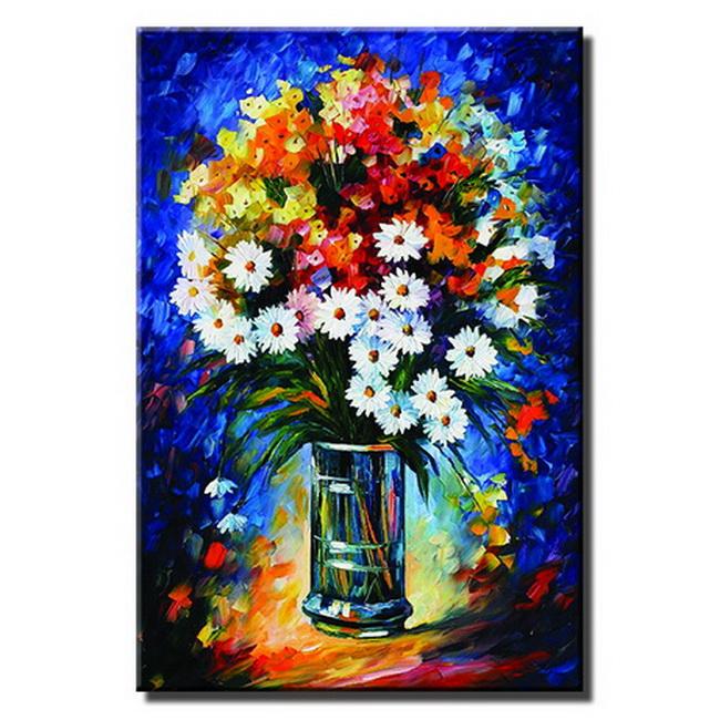 Tranh in canvas bó hoa tươi thắm LCV40-2