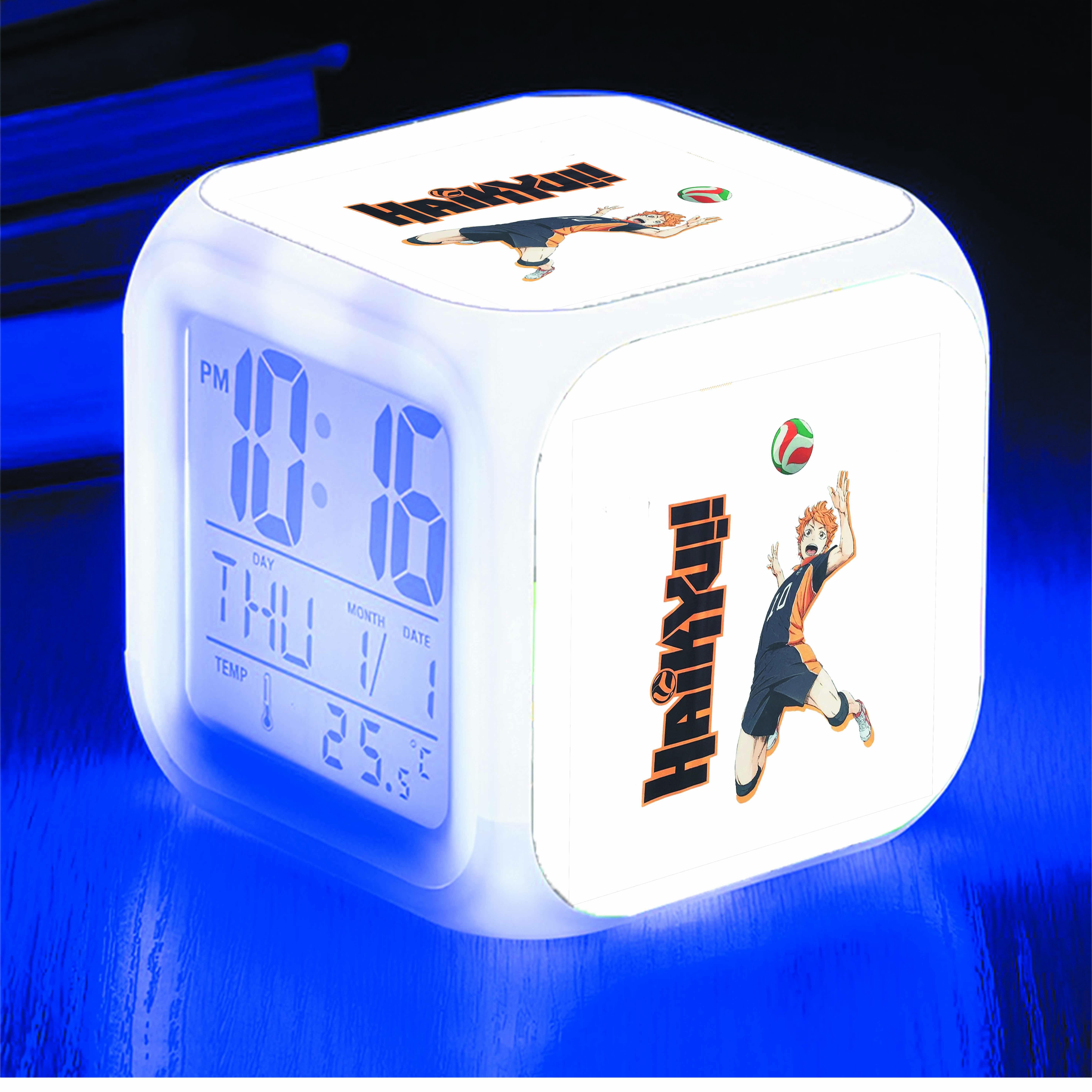 Đồng hồ báo thức để bàn IN HÌNH Haikyuu - Vua Bóng Chuyền anime