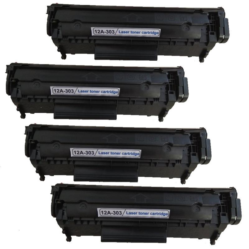 [Bộ 4 hộp] Mực máy in Canon LBP 2900, 3000, HP3050, 3055