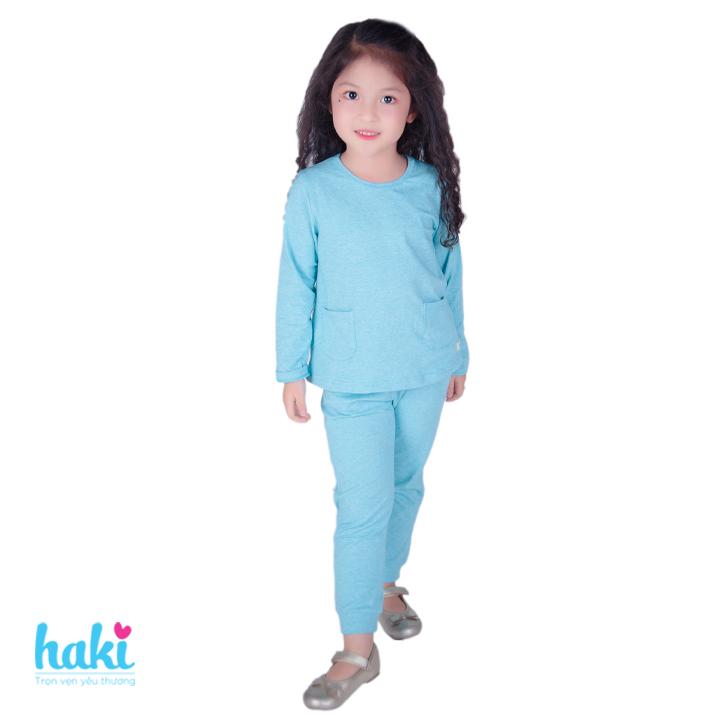 Bộ quần áo mặc nhà bé gái Haki