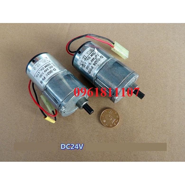 Motor giảm tốc 24v 17rpm lực 18KG 3524