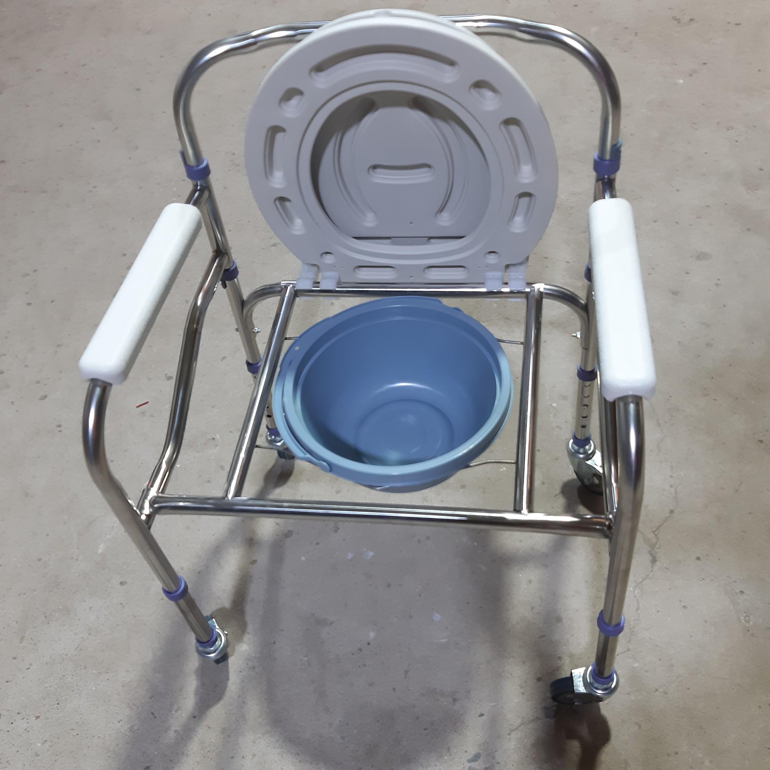 Ghế bô vệ sinh có bánh xe - Hàng Tiêu Chuẩn bệnh viện
