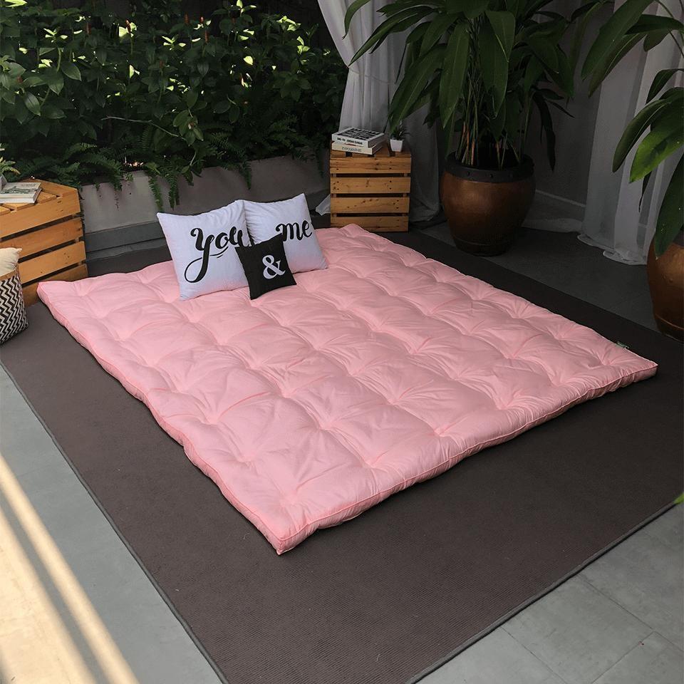 Topper deluxe Edena màu hồng 160x200cm
