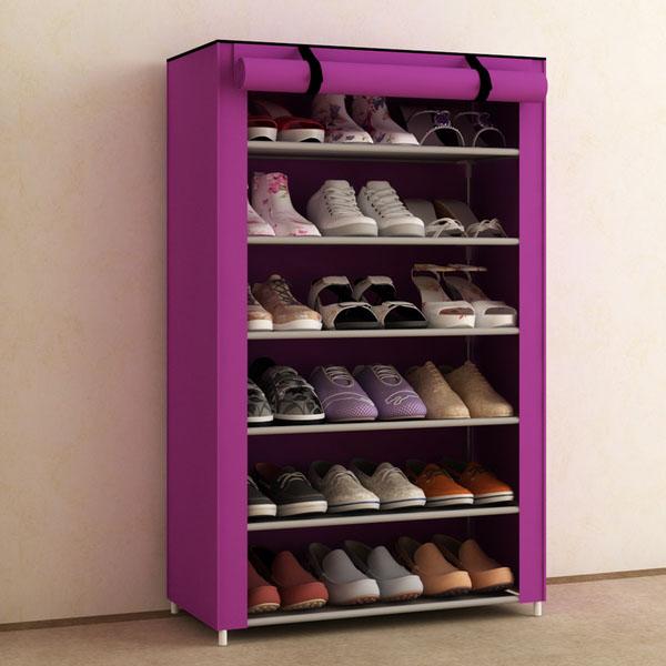 Kệ giày 7 tầng 6 ngăn hoa văn - màu ngẫu nhiên