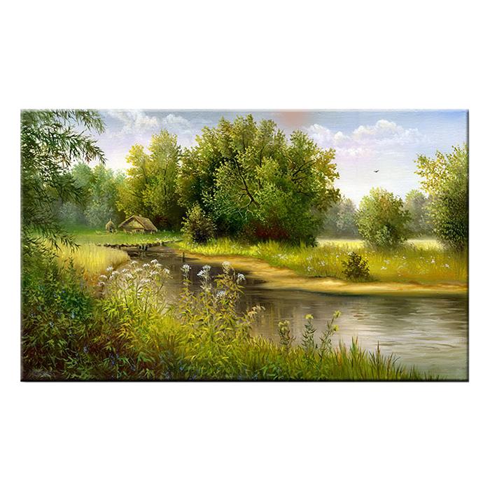 Tranh Canvas Treo Tường Trang Trí Thiên Nhiên Sông Nước Suemall CV140868