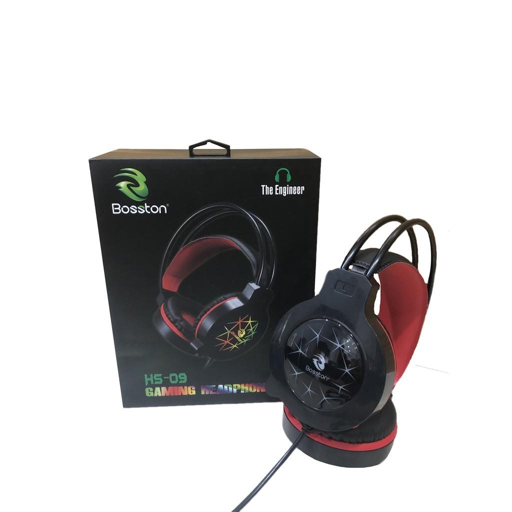 Tai Nghe Headphone Bosston HS09-LED Rainbow - Hàng Chính Hãng