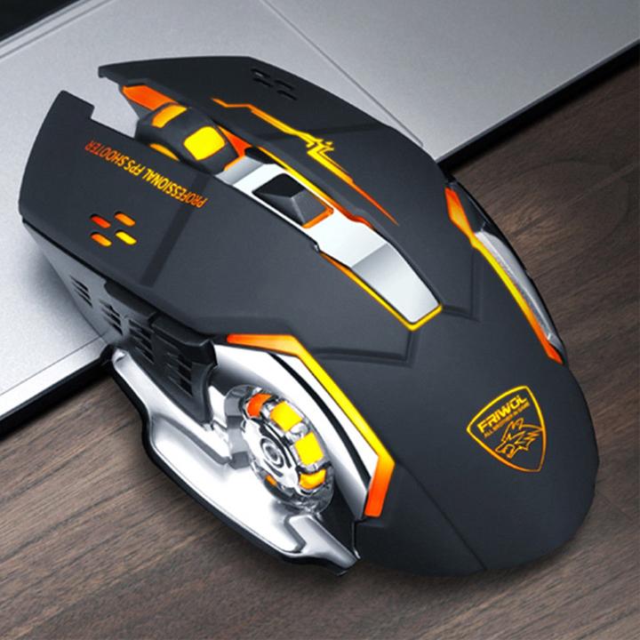 Chuột không dây chuyên game pin sạc FRIWOL C90 Led 7 màu