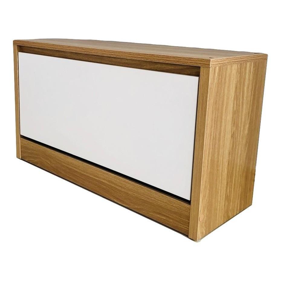 Tủ giày thông minh 1 tầng 80x45x30 cm; Joy Shoes Cabinet - Màu Sồi
