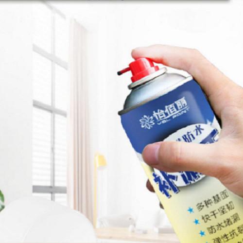 Bình xịt chống thấm đa năng chai xịt ngăn dột nước trần sàn mái tôn, chân tường nhà (màu trắng)