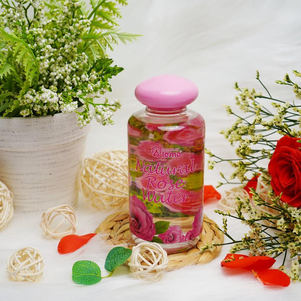 Nước hoa hồng Bulgaria thương hiệu Lema 250ml nắp đổ, giúp trắng sáng, dưỡng ầm da an toàn tuyệt đối