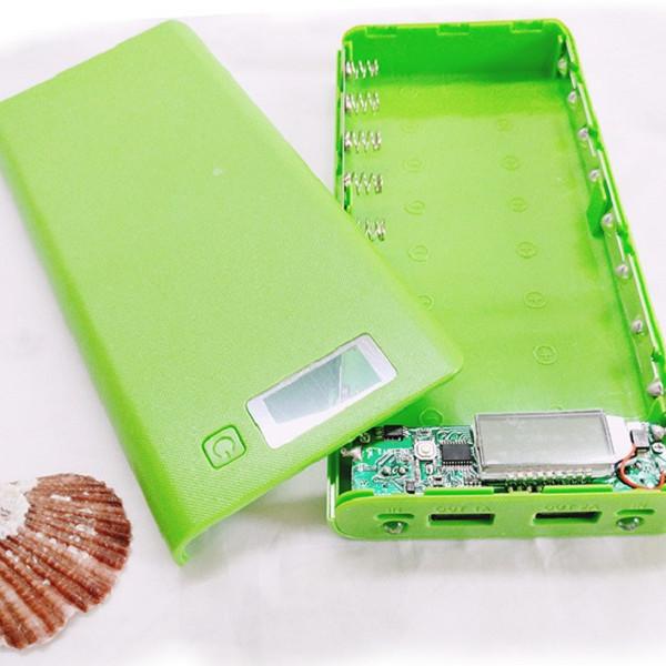 Khung 8 khe pin sạc 18650 hiện thị LCD (chưa pin)
