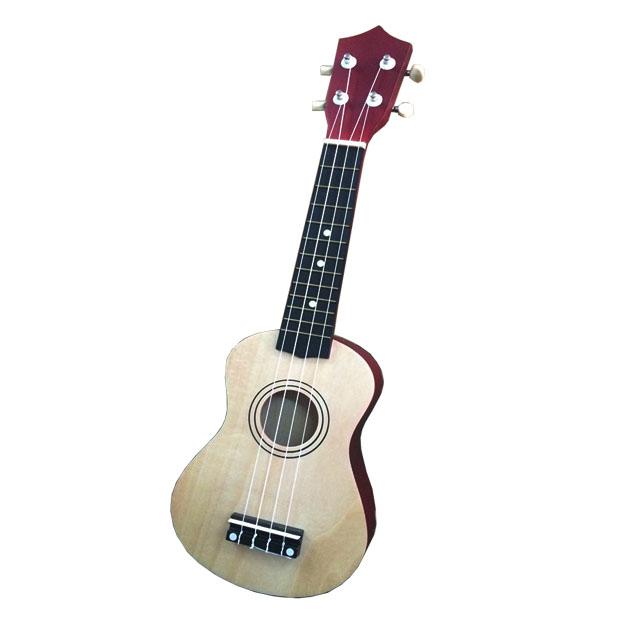 Đàn ukulele mặt gỗ thân màu đỏ UKLL