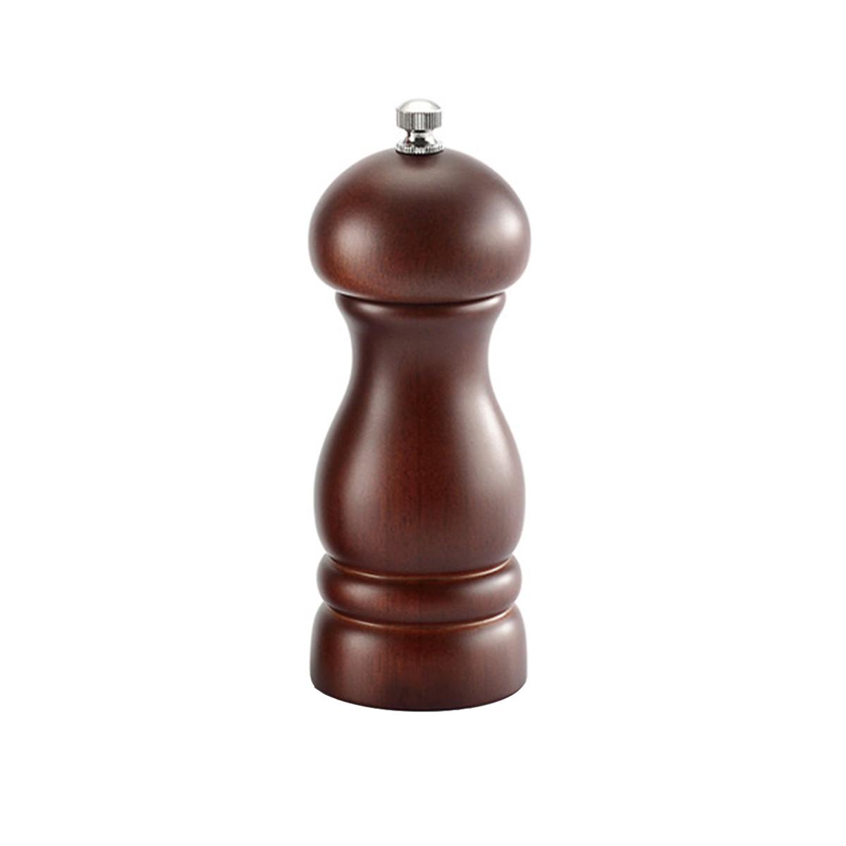 Xay tiêu cầm tay gỗ óc chó sang trọng (GA08), lọ xay hạt tiêu với gối xay bằng gốm dễ dàng điều chỉnh độ mịn