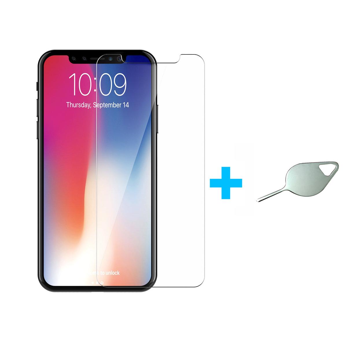Bộ Kính Cường Lực Dẻo Nano Cho iPhone XR (Trong Suốt) Và Cây Lấy Sim Hình Giọt Nước - Hàng Nhập Khẩu