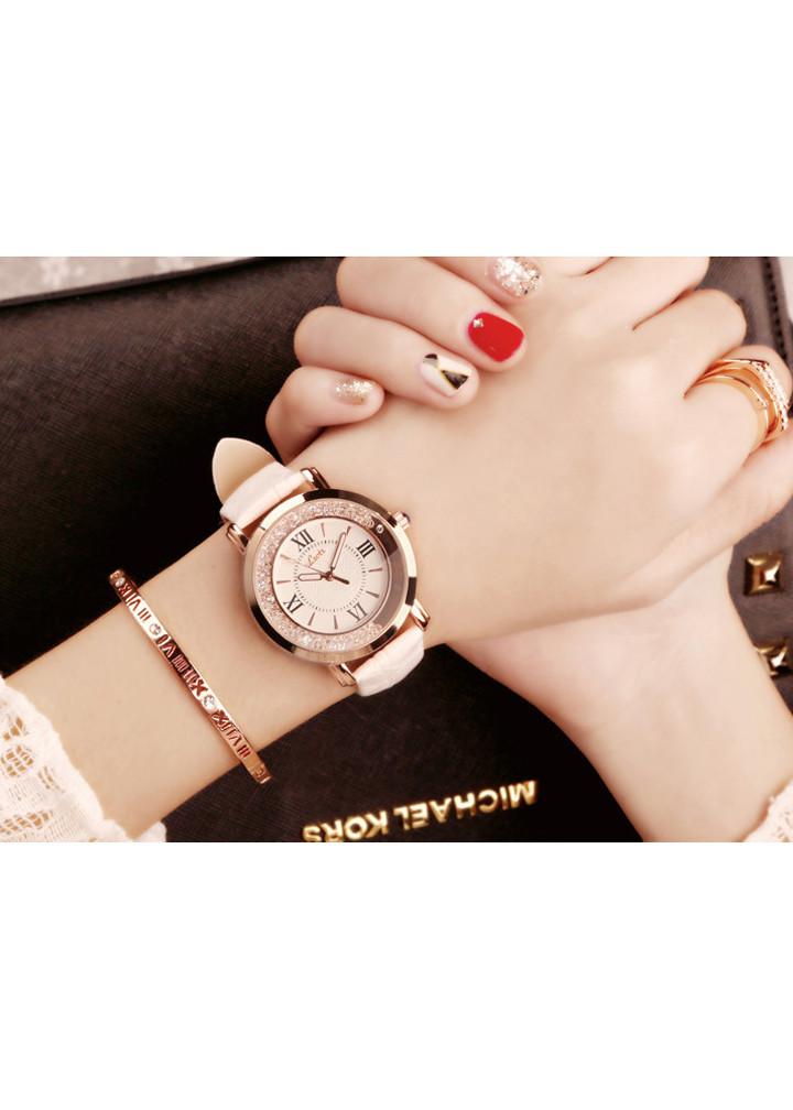Đồng hồ thời trang nữ Hàn Quốc dây da