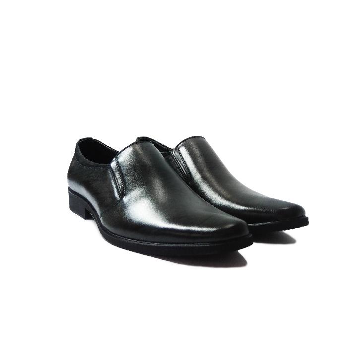 Giày tây nam da bò thật dập vân cá sấu cao cấp, đường may tỉ mỉ đế cao su ép nhiệt chắc chắn có rãnh chống trượt-HS026
