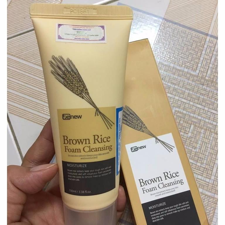 Sữa rửa mặt tinh chất gạo sạch nhờn giảm mụn Benew Hàn Quốc 100ml thêm móc khoá