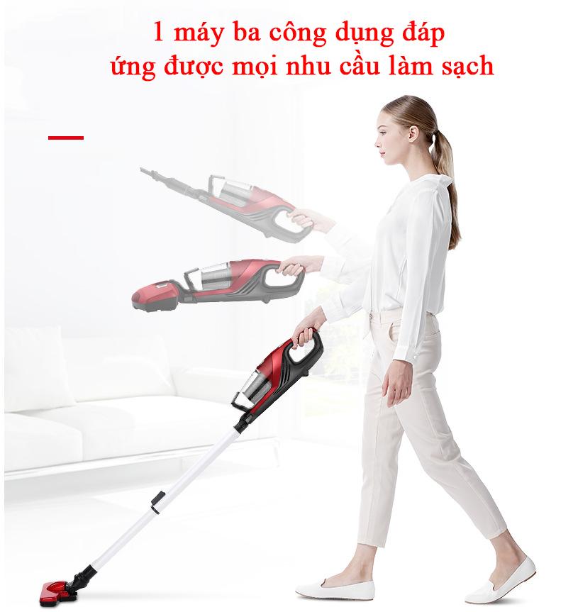 Máy hút bụi diệt khuẩn tia UV 3 trong 1 Haier ZC405S làm sạch sofa, giường nệm, sàn nhà có hệ thống sưởi (hàng nhập khẩu)