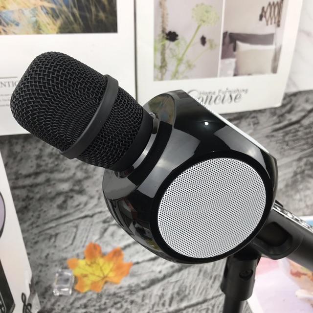 Micro Bluetooth Hát Karaoke Tích Hợp Loa Bass Hay YS90 Mic Bắt Giọng Âm Thanh Trong Lớn Gắn Usb Thẻ Nhớ