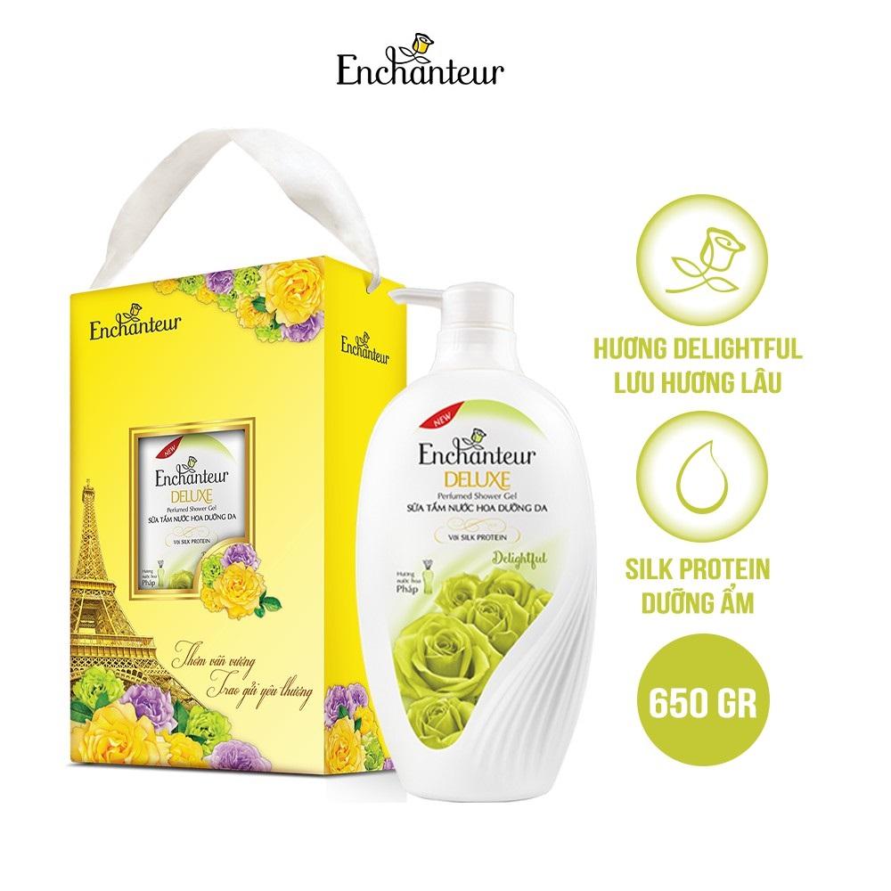 [Hộp quà] Sữa tắm nước hoa dưỡng da Enchanteur Delightful 650gr
