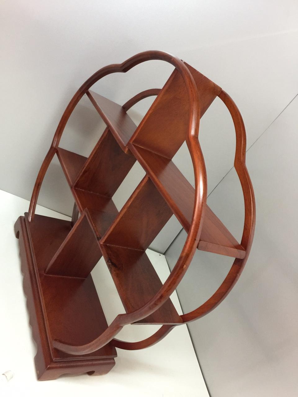 Kệ gỗ trang trí ( gỗ hương) - 42x10x42 cm