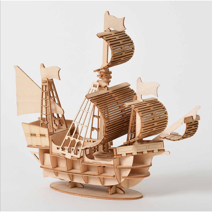 Đồ chơi lắp ráp gỗ 3D Mô hình Thuyền Buồm Sailing Ship