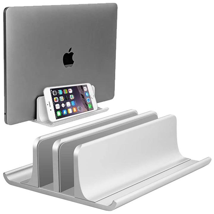 Đế hợp kim nhôm giữ laptop, MTB, ĐT dựng đứng tiết kiệm không gian, có thể điều chỉnh