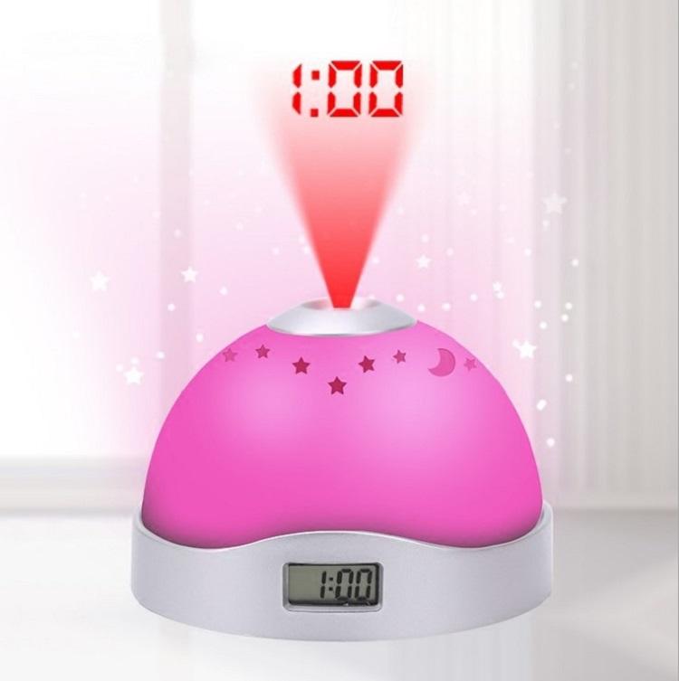 Đồng hồ đổi màu để bàn đa năng - Tặng kèm 2 móc dán tường 3D