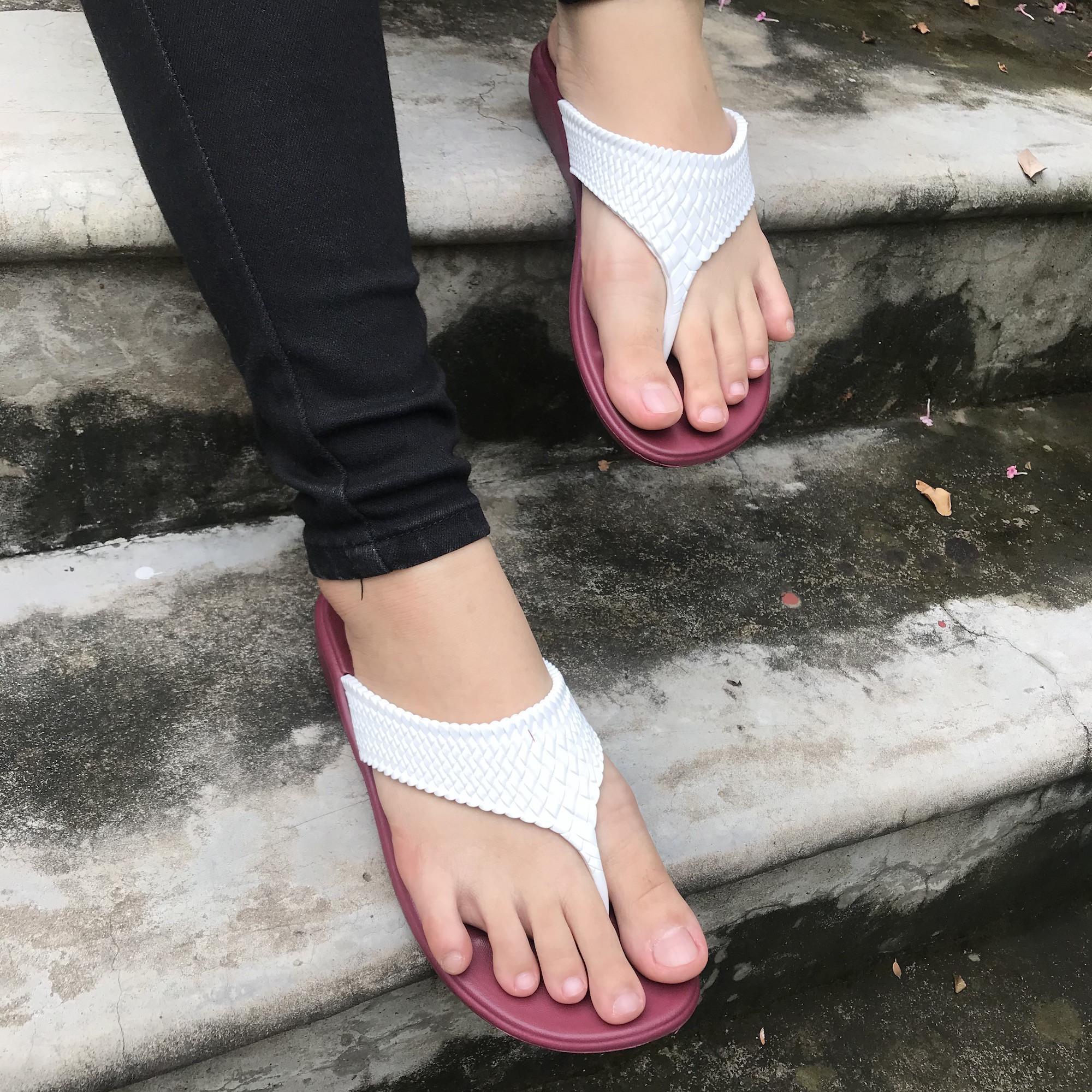 Dép kẹp thấp - Thái Lan - Nhựa mềm Siêu Bền, Êm Ái, Chống Trơn Trượt