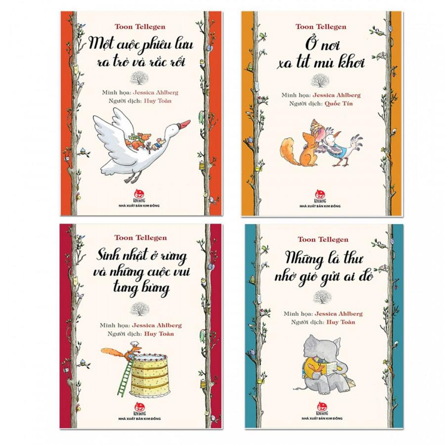 Combo Ở nơi xa tít mù khơi - Những lá thư nhờ gió gửi ai đó - Sinh nhật ở rừng và những cuộc vui tưng bừng - Một cuộc phiêu lưu ra trò và rắc rối  Bộ sách Tool Tellegen   Quà tặng bất kỳ