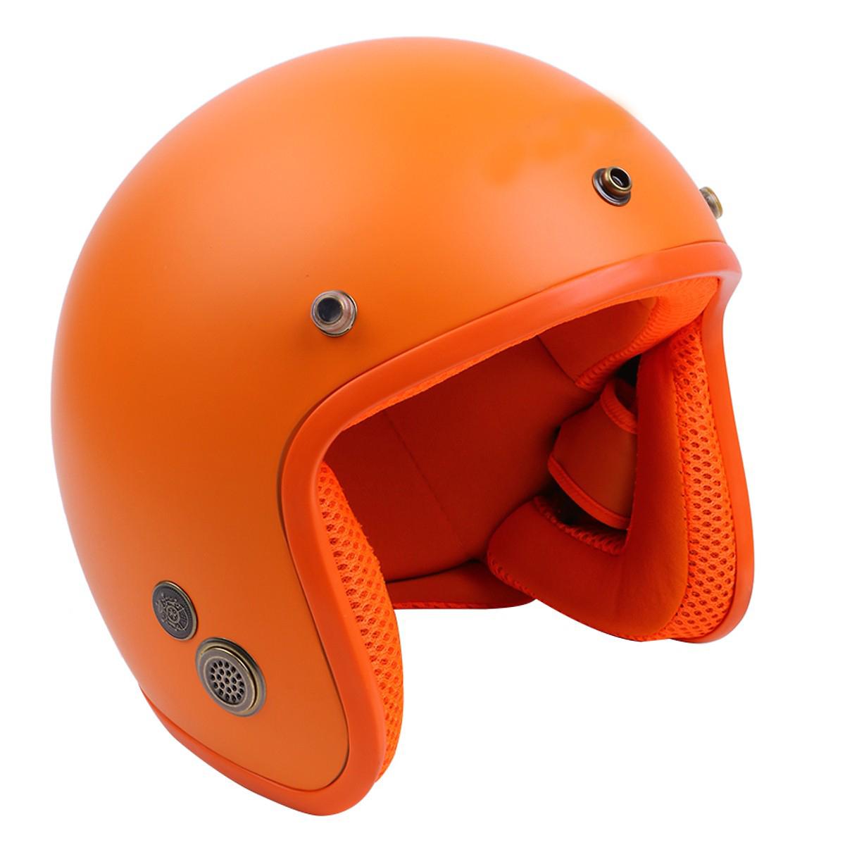 Mũ Bảo Hiểm 3/4 Lót Màu Nhám Chuyên Phượt + Tặng kèm lưỡi chai chống nắng, chống bụi