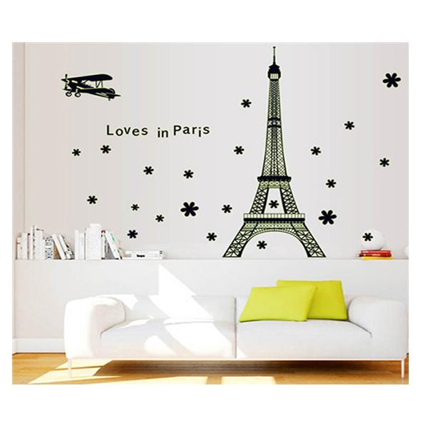 Decal Dán Tường Thành Phố Paris Dạ Quang 1 PK230 (70 x 125 cm)