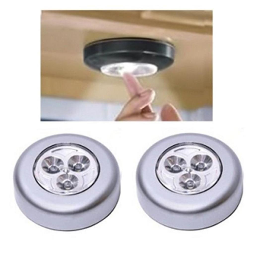 combo 2 đèn LED dán tường (đèn 3 bóng) - HR Hàng nhập khẩu