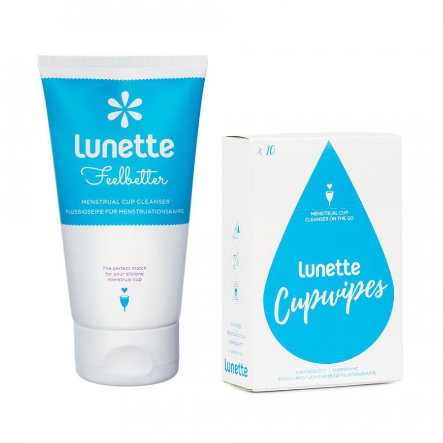 Bộ cốc nguyệt san Lunette (màu Tím) kèm nước rửa và giấy lau chuyên dụng