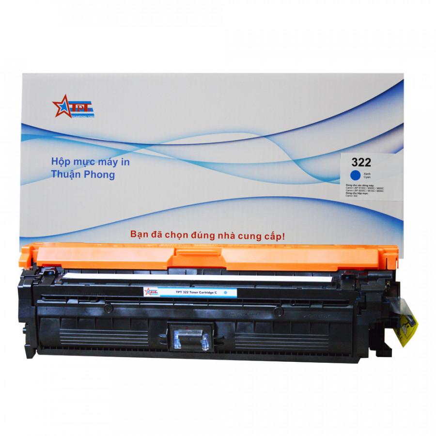 Hộp mực Thuận Phong 322 dùng cho máy in màu Canon LBP 9100C  9200C  9500C  9650C - Xanh - Hàng Chính Hãng