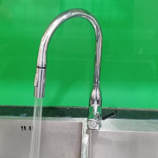 Vòi rửa bát rút tăng áp tự động, đầu vòi nhỏ tránh bắn nước